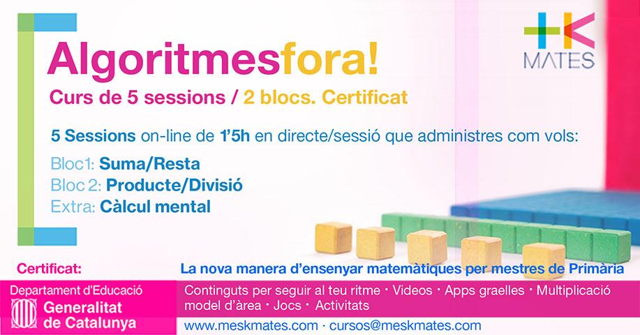 Curs Professorat de Primària +KMates Algoritmes Fora